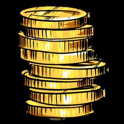Pilha de moedas de ouro