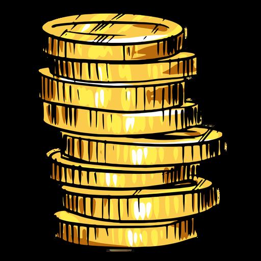 Goldmünzen stapeln