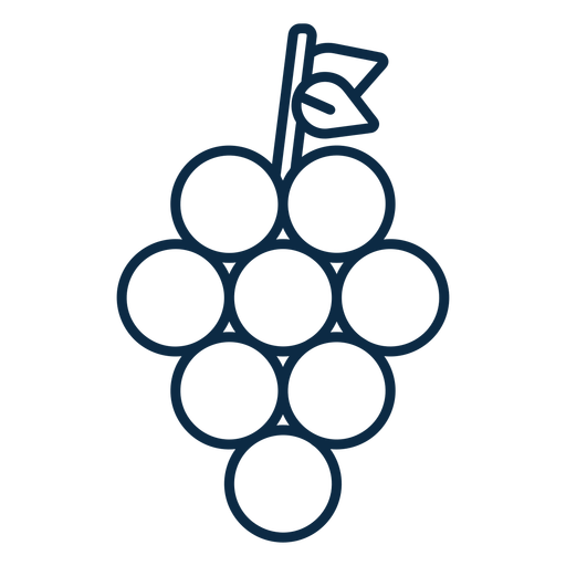 Grapes fruit icon stroke