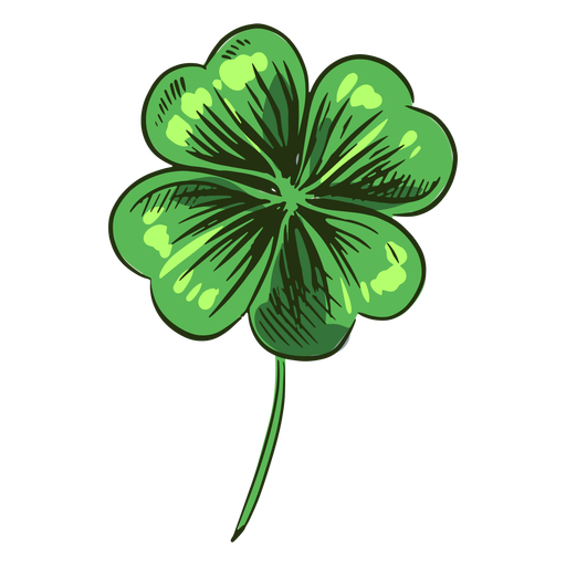 Green clover leaf drawn Transparent PNG