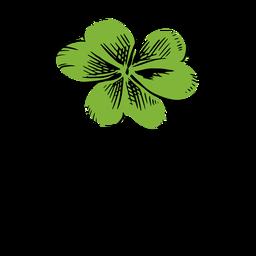 Green clover stroke