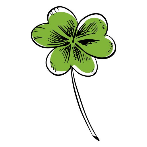Trazo de trébol verde