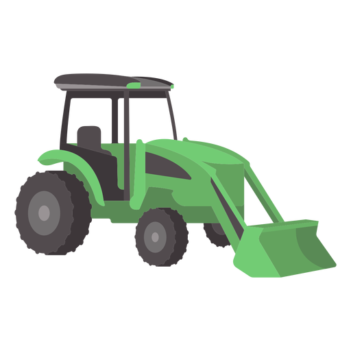 Green tractor flat