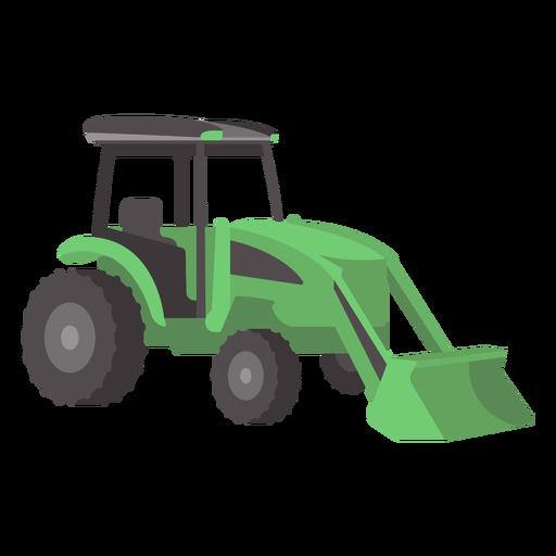 Tractor verde plano