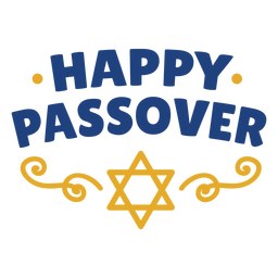 Happy passover with star lettering