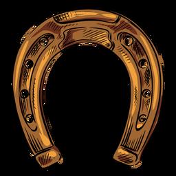 Sapato de cavalo marrom