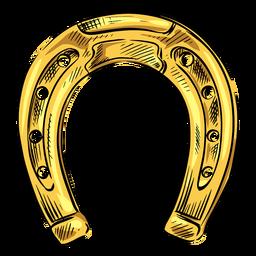 Horse shoe gold