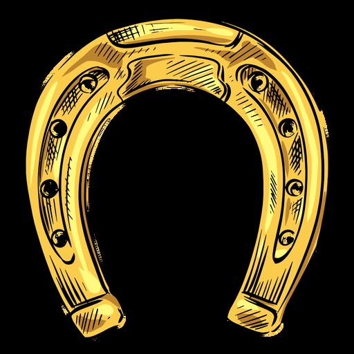 Ouro sapato cavalo