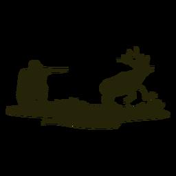 Silhueta de veado caçador