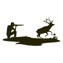Silueta de ciervo cazador