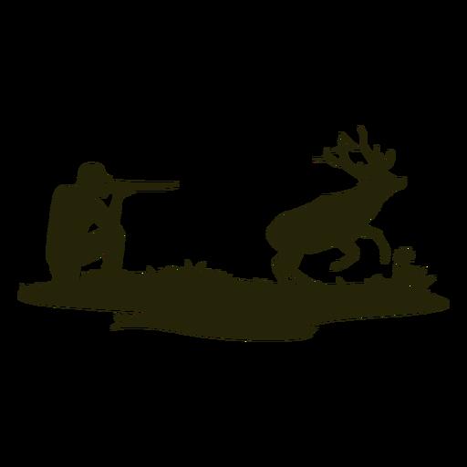 Hunter deer silhouette