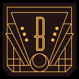 Letter b art deco banner