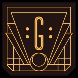 Letter g art deco banner