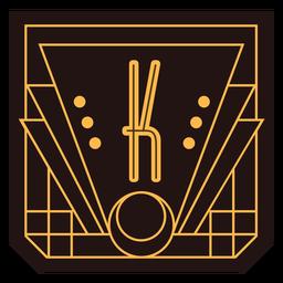 Banner de letra k art deco