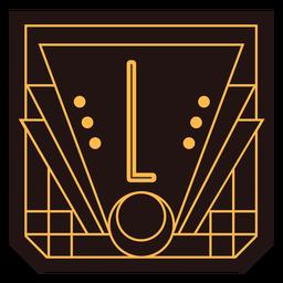 Buchstabe l Art-Deco-Banner