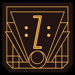 Art-Deco-Banner des Buchstabens z