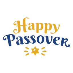 Lettering happy passover