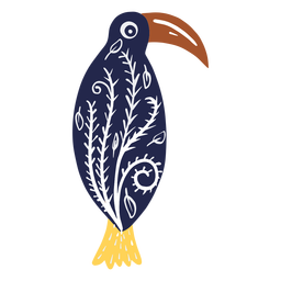 Long beak bird with patterns