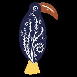 Pájaro de pico largo con patrones