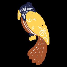 Long tailed bird illustration