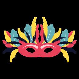 Máscara con muchas plumas.