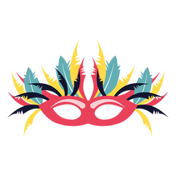 Mask with many feathers