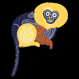 Ilustração de macaco animal