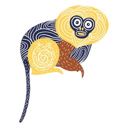 Ilustración de animal mono