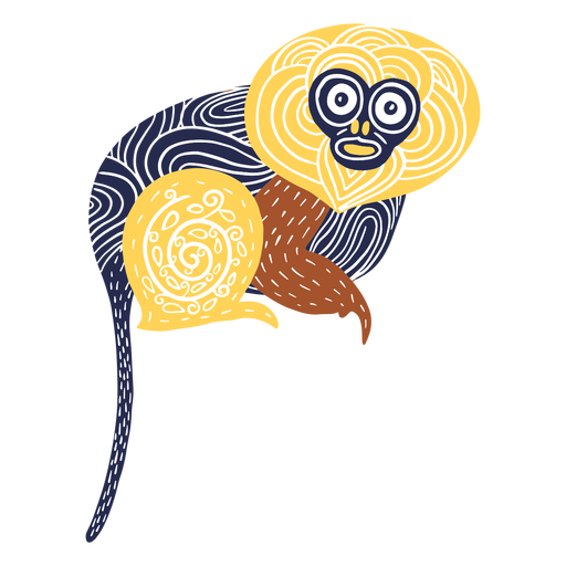 Monkey animal illustration