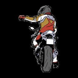 Ilustração de homem de motocicleta