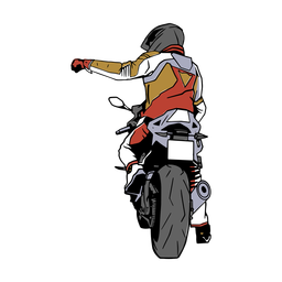 Motorcycle man illustration