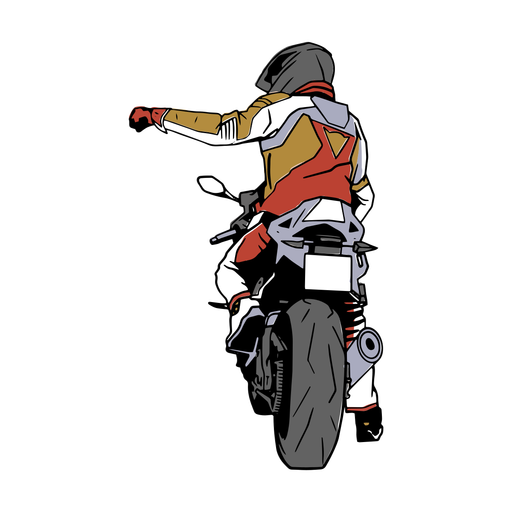 Ilustración de hombre de motocicleta
