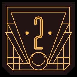 Bandeira de art deco número 2