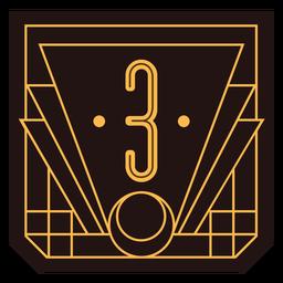 Bandeira de art deco número 3