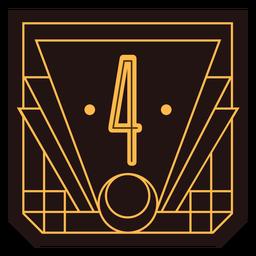 Bandeira de art deco número 4