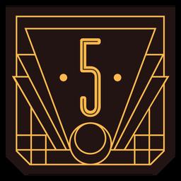 Bandeira de art deco número 5