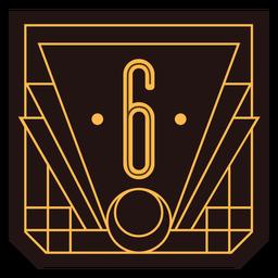 Banner de art deco número 6