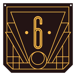 Number 6 art deco banner