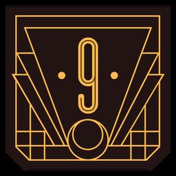 Bandeira de art deco número 9