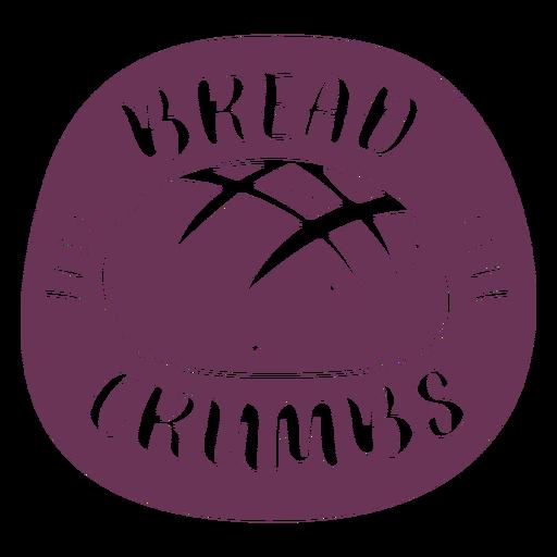 Etiqueta de pan rallado de despensa