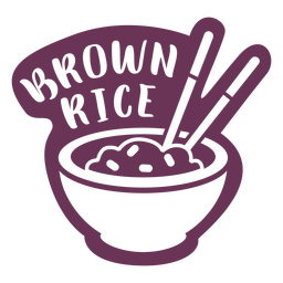 Pantry brown rice label