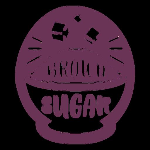 Etiqueta de azúcar morena de despensa
