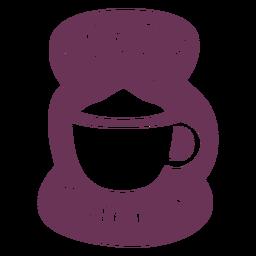 Etiqueta de despensa de cacao en polvo