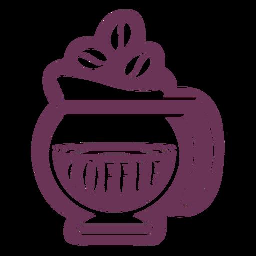 Etiqueta de café de despensa