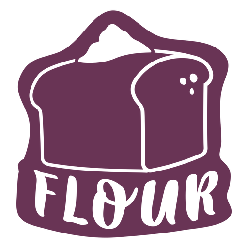 Etiqueta de harina de despensa