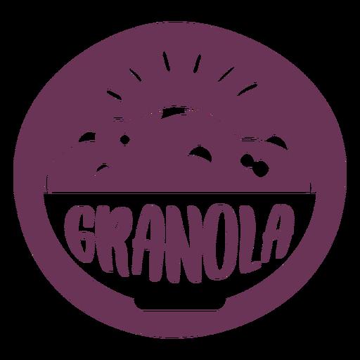 Etiqueta de granola de despensa