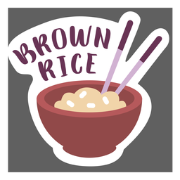 Pantry label brown rice