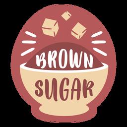 Azúcar moreno de etiqueta de despensa