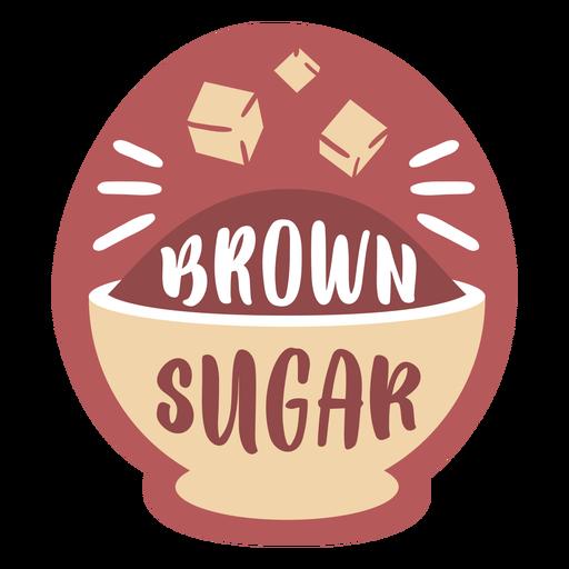 Pantry label brown sugar Transparent PNG