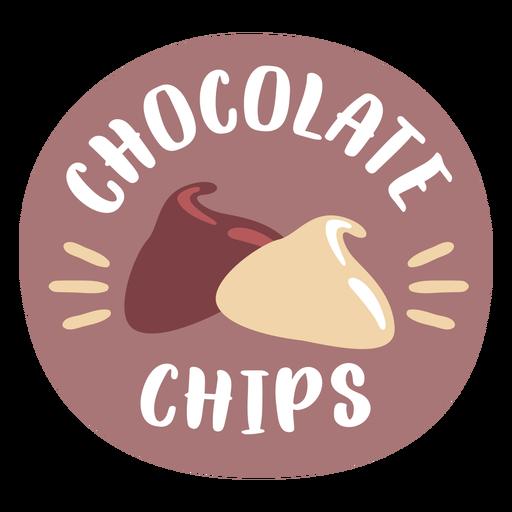Etiqueta de despensa con chispas de chocolate de colores